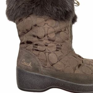 Coach Shoes - Coach Faith Brown Winter Boots- 8.5